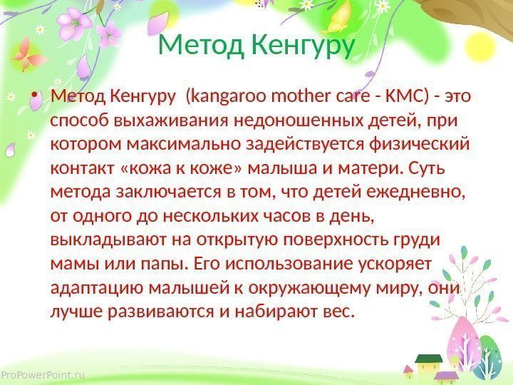 Pro. Power. Point. ru Метод Кенгуру • Метод Кенгуру (kangaroo mother care - KMC)