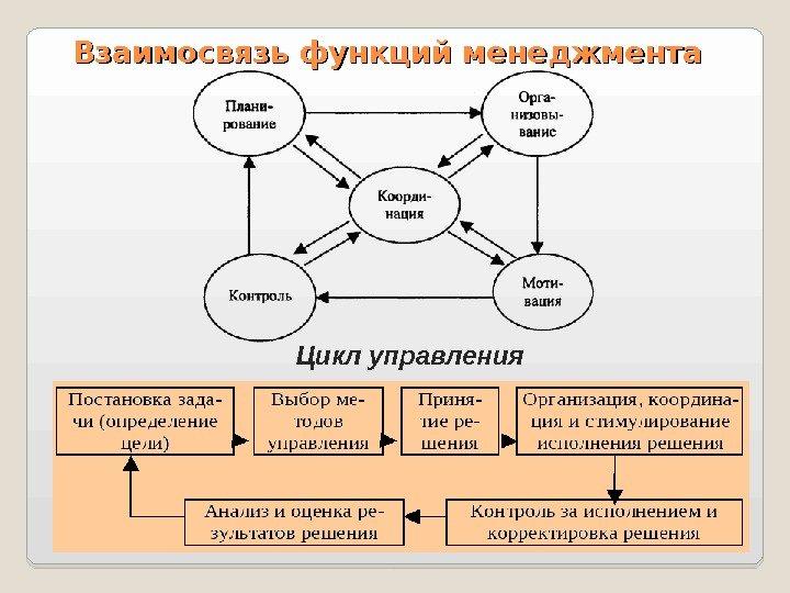 Цикл руководителя схема