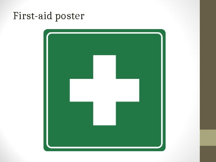 First-aid poster