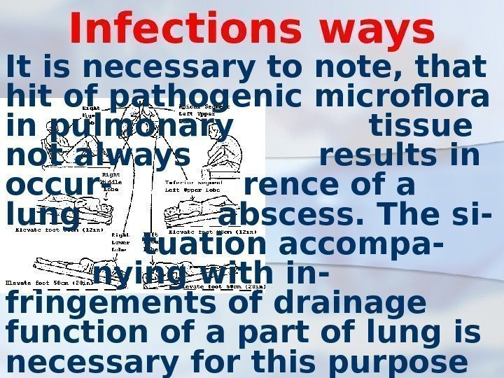 Infections ways It is necessary to note, that hit of pathogenic microflora in pulmonary
