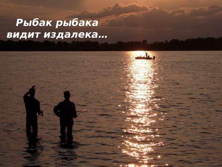 а рыбак рыбака узнает издалека текст