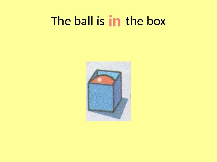 The ball is  the box in