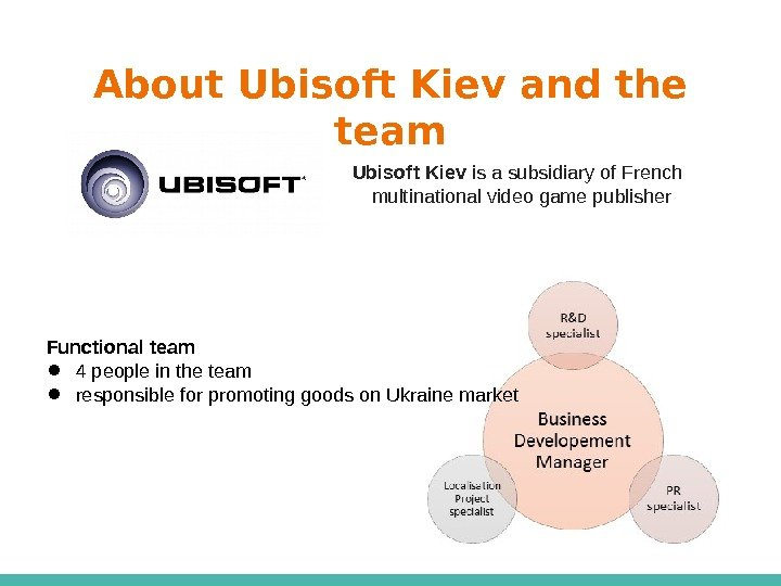 About Ubisoft Kiev and the team Ubisoft  Kiev is a subsidiary of French