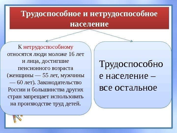 перед Кто относится к нетрудоспособным гражданам в россии избавились необходимости
