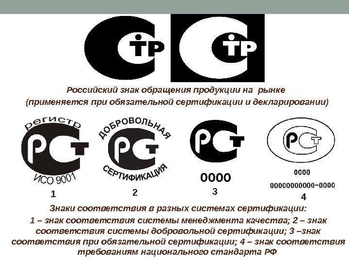 маркировка продукции знаком соответствия разных стран курсовая