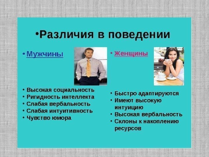 Психология общения мужчины и женщины