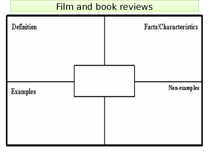 Film and book reviews 01
