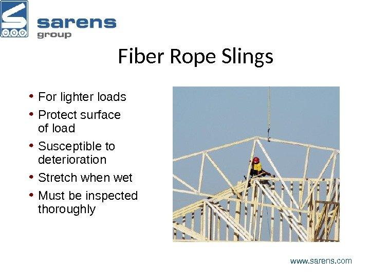 Cranes and Rigging www. sarens. com Understand