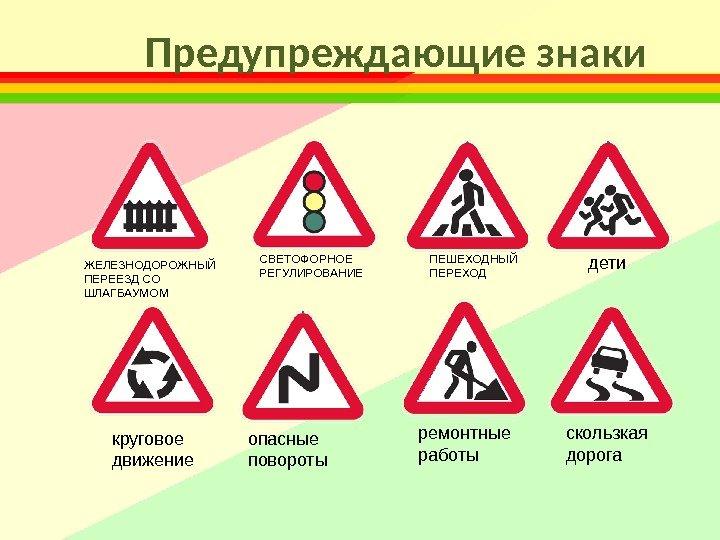 Дорожные картинки с пояснением распечатать