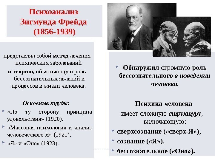 psychology and the theories of sigmund freud Sigmund freud and his main theories let us free associate for a second what comes to mind when you think of counselling or psychology or even psychiatry.