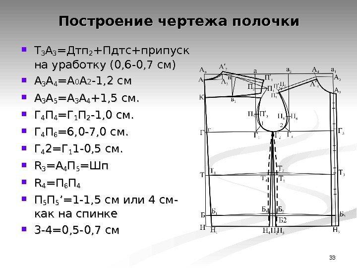 33 ТТ 33 АА 33 =Дтп 22 +Пдтс+припуск на уработку (0, 6 -0, 7