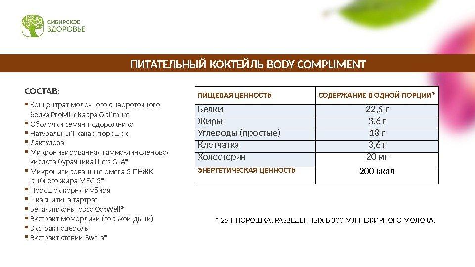 Программа сибирского здоровья для похудения