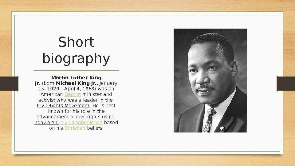 an analysis of the martin luter king junior an american baptist minister