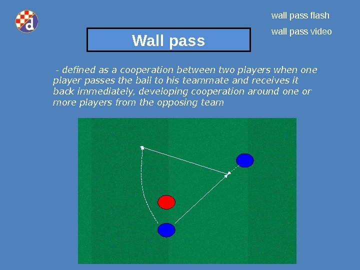 Wall pass  - defined as a cooperation between two players when one
