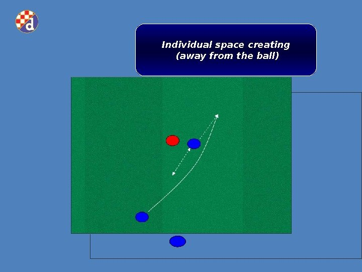 Individual space creating (away from the ball)