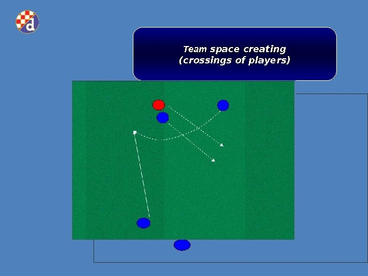 Team space creating (crossings of players)