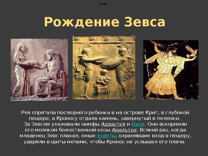 Миф о рождении зевса с картинками