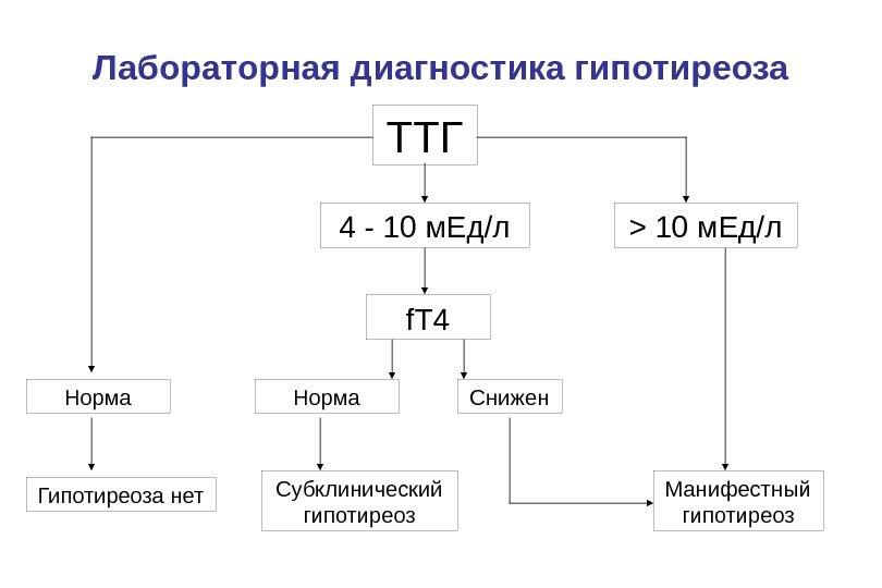 Гипотиреоз диагностика лабораторная