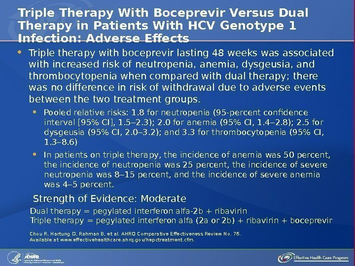 Triple therapy with boceprevir lasting 48 weeks was associated with increased risk of