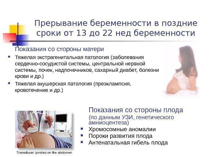 Для прерывания беременности советы