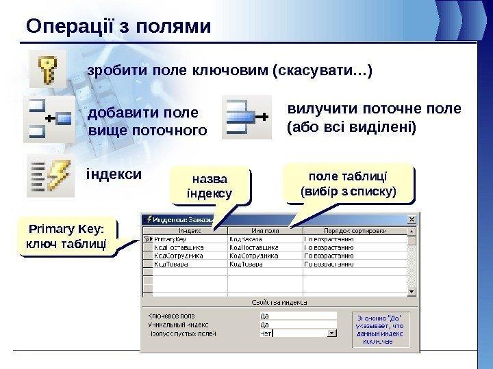 Как в access сделать поле ключевым