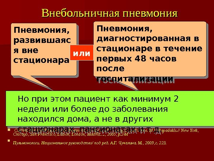 Внебольничная пневмония  Current Medical Diagnosis & Treatment. Ed. By L. M. Tierney, S.