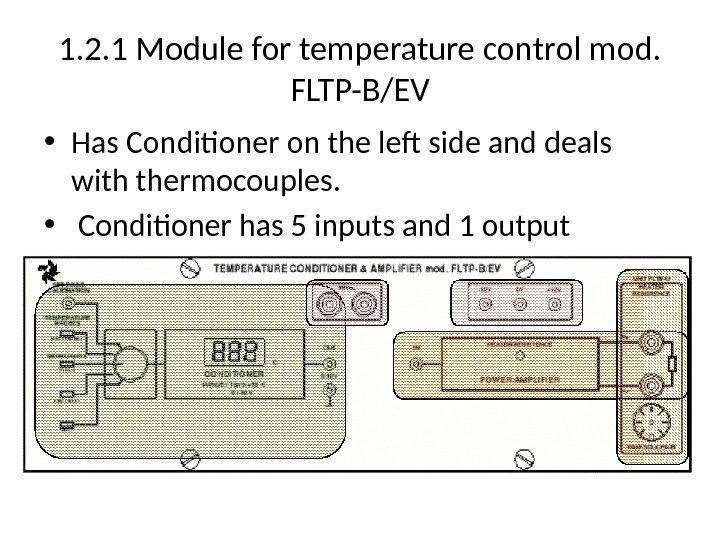 1. 2. 1 Module for temperature control mod.  FLTP-B/EV • Has Conditioner on