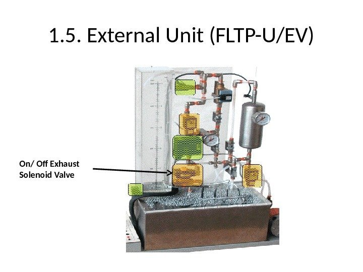 1. 5. External Unit (FLTP-U/EV) On/ Off Exhaust Solenoid Valve