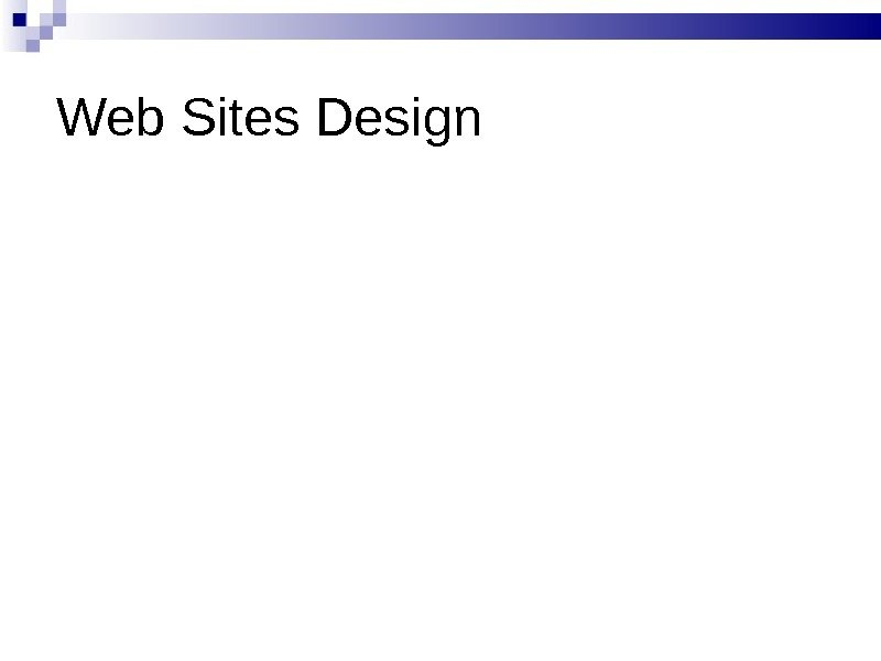 Web Sites Design
