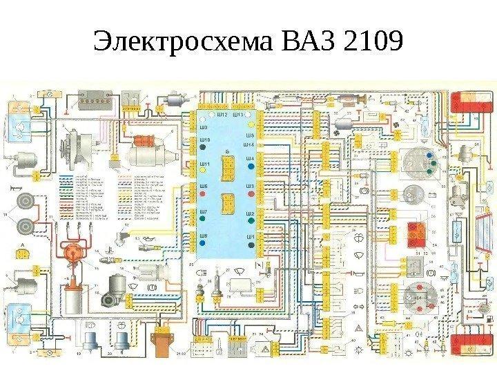 скачать электросхему ваз2109