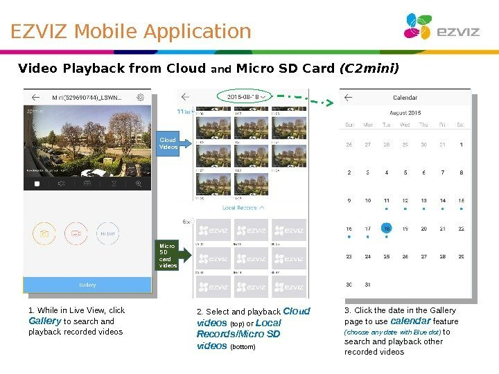 Video Playback from Cloud and Micro SD Card (C 2 mini) Cloud Videos Micro