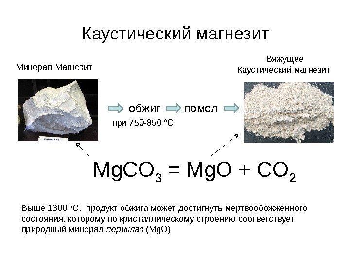 Магнезиально вяжущие вещества