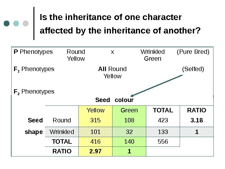 Is the inheritance of one character affected by the inheritance of another?  P
