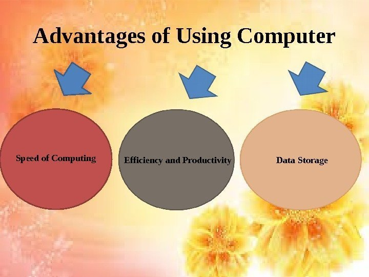 Advantages of Using Computer Speed of Computing Efficiency and Productivity Data Storage