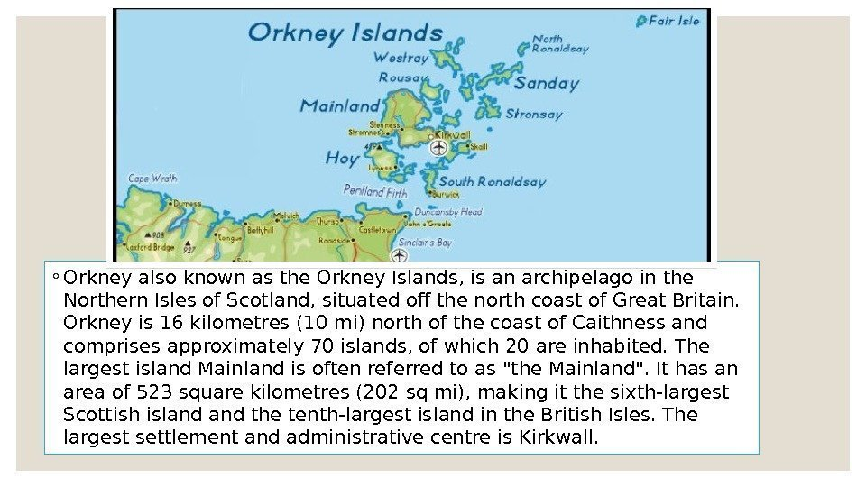 essay orkney islands A glimpse of life at sanday school in orkney featuring the things pupils are proud of about their school and themselves told in their own words.