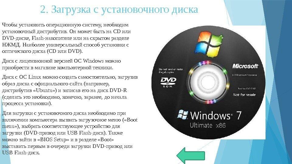 Как сделать диск с образом системы загрузочным