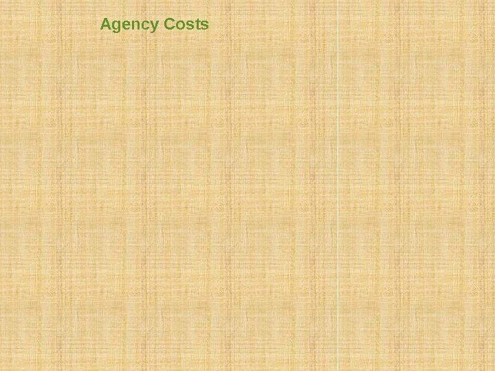 Agency Costs Debt overhang Risk Shifting