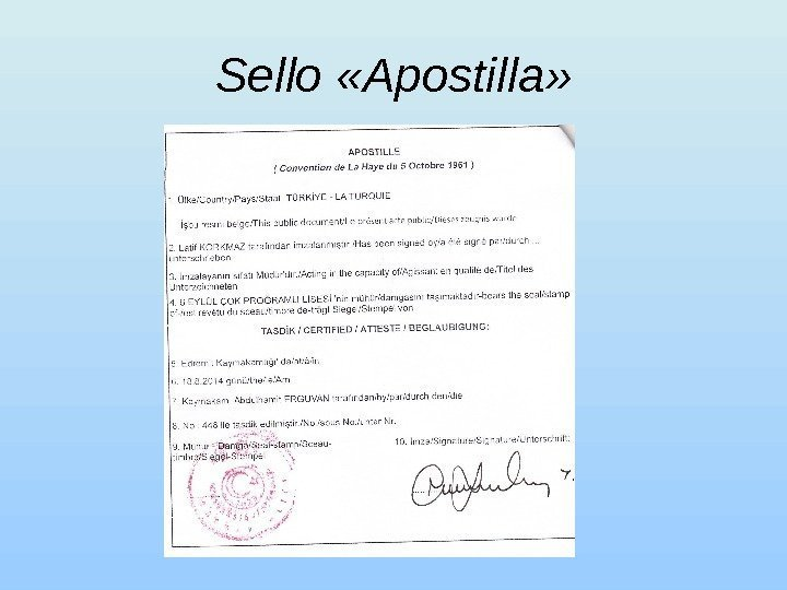 Sello  « Apostilla »
