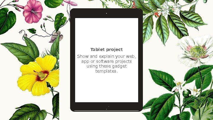 Tablet project Show and explain your web,  app or software projects using these