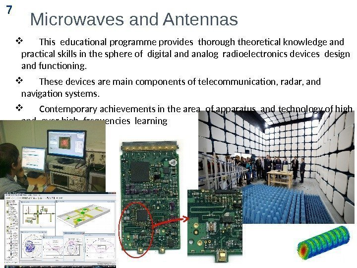 Microwaves and Antennas  This educational programme provides thorough theoretical knowledge and practical skills
