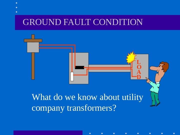 GROUND FAULT CONDITION What do we know about utility company transformers? L