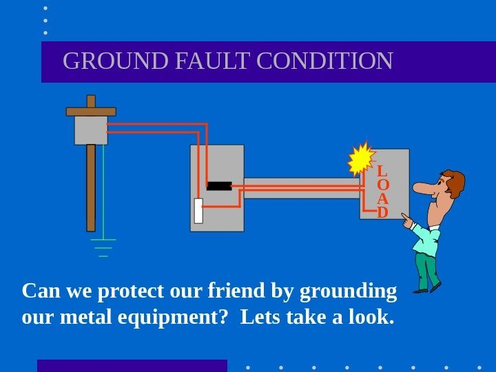 GROUND FAULT CONDITION Can we protect our friend by grounding our metal