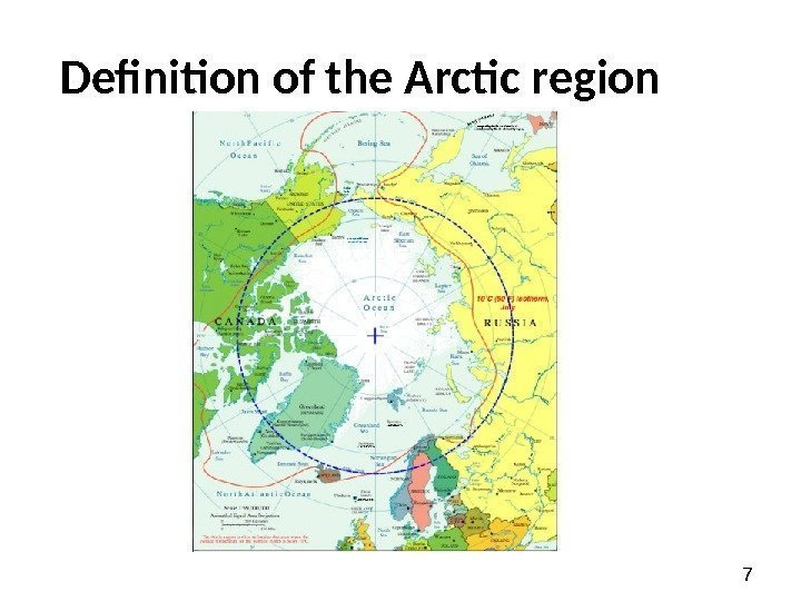 7 Definition of the Arctic region