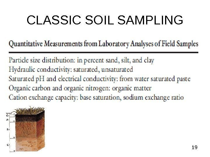 19 CLASSIC SOIL SAMPLING
