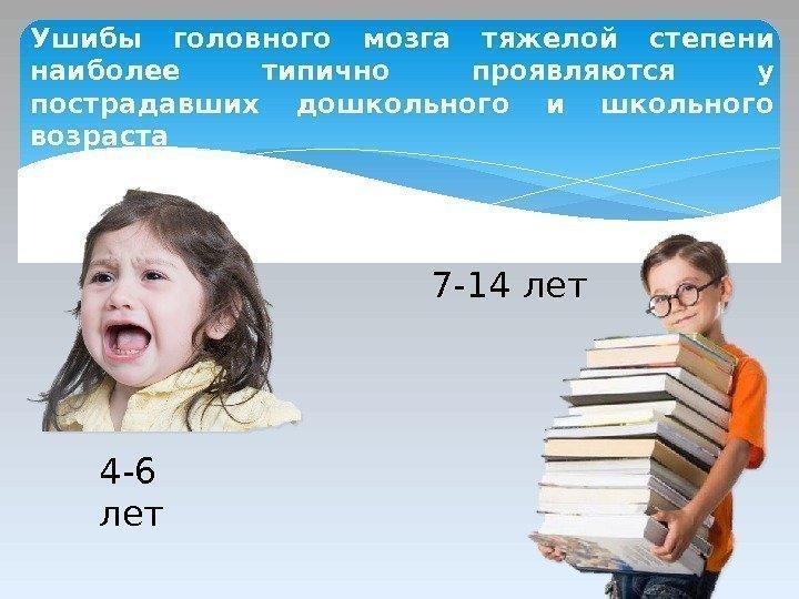 Сотрясение головного мозга у детей школьного возраста