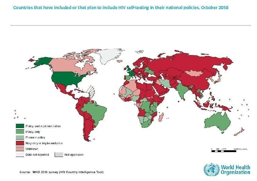 Countries that have included or that plan to include HIV self-testing in their national