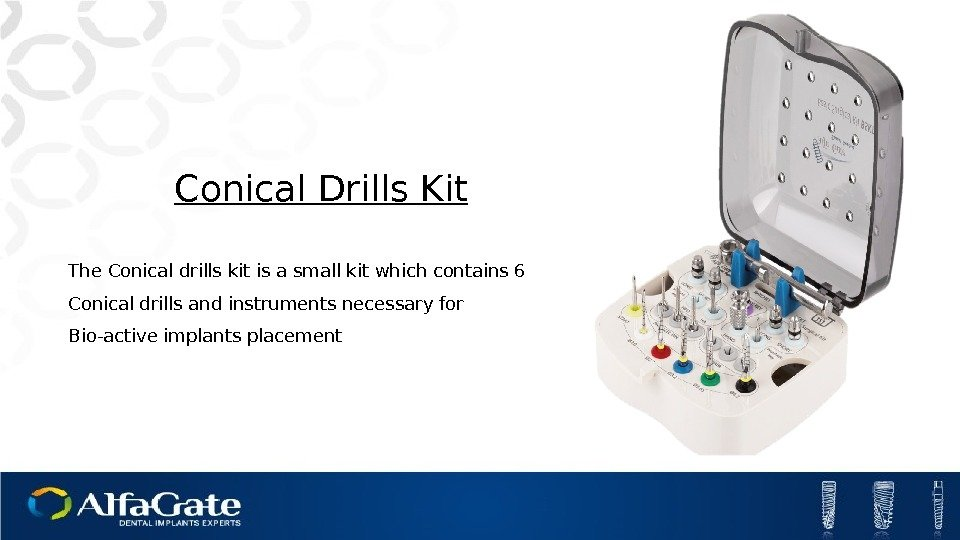 The Conical drills kit is a small kit which contains 6 Conical drills and