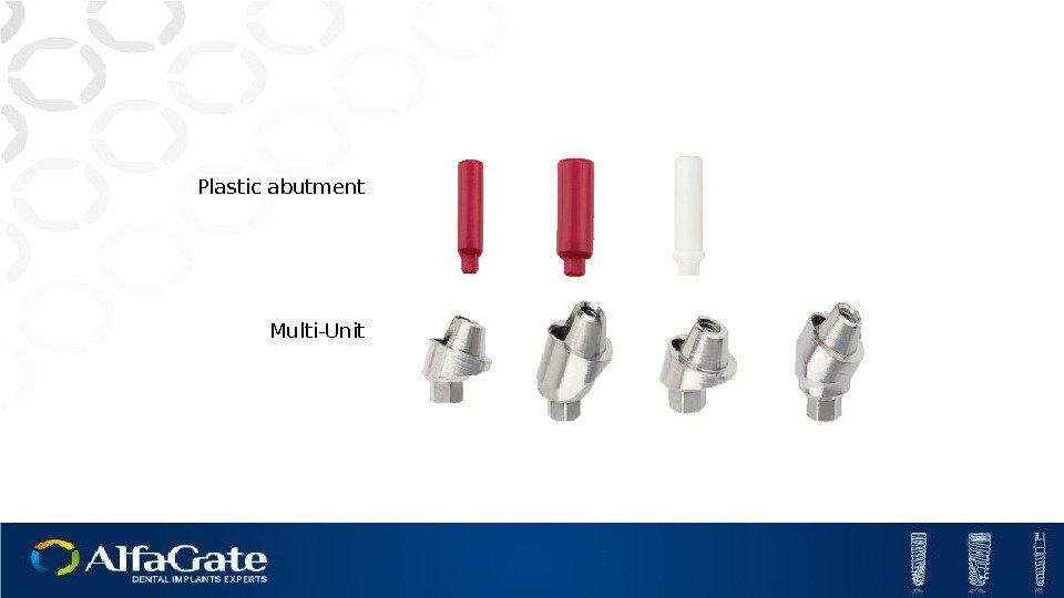 Plastic abutment Multi-Unit