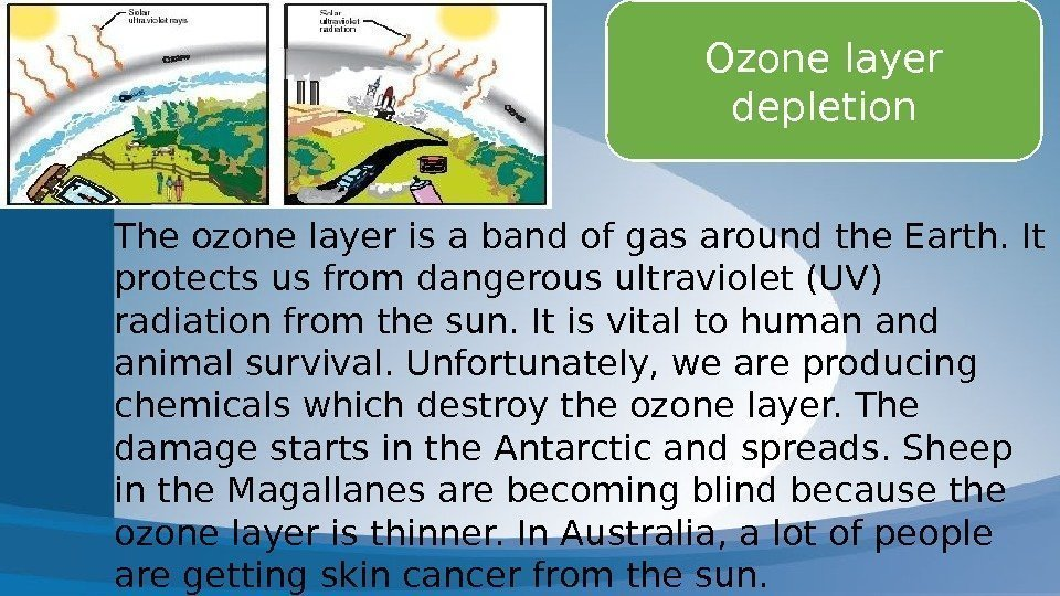 speech on ozone layer depletion Kids learn about the depletion of the ozone layer how cfcs have cause a hole in the ozone for teachers and students.