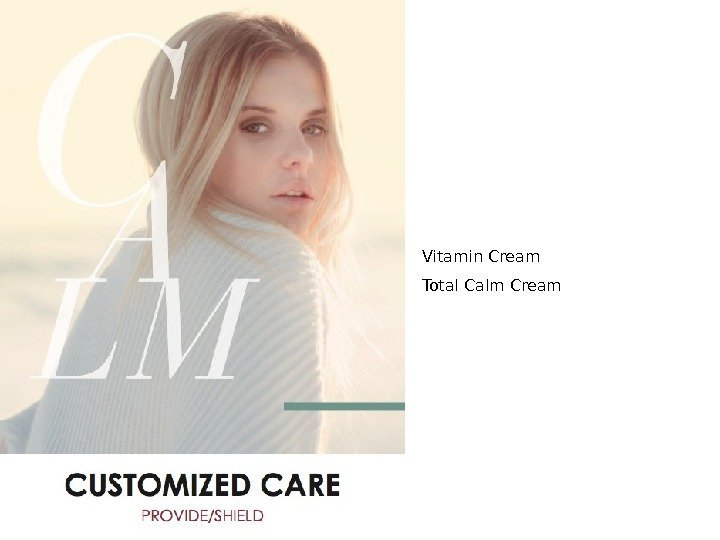 - for internal use only - Vitamin Cream Total Calm Cream